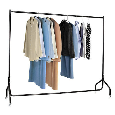 6FT Clothes Rack Garment Display Rolling Portable Metal Rail Hanger Dryer Stand#