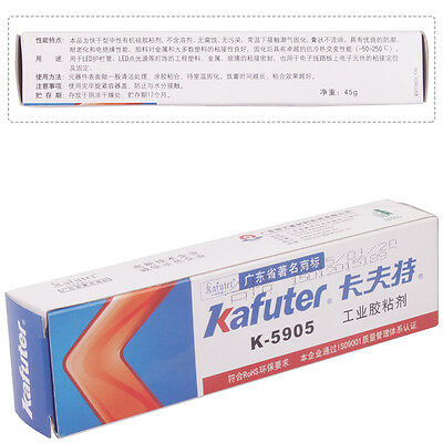 45g Kafuter Colorless Translucent Paste Silicone Rubber K-5905 RTV
