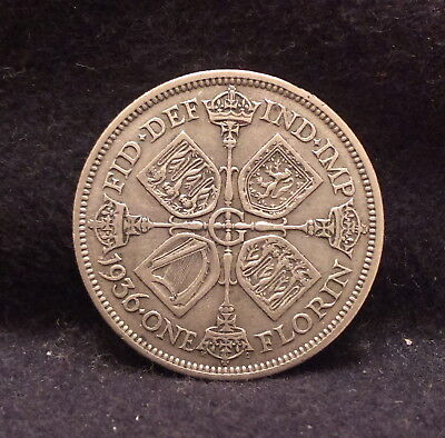 1936 Great Britain silver florin (2 shillings), George V last year, KM-834 (GB4)