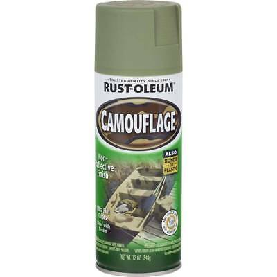 Camouflage ARMY GREEN Non-Reflective Ultra-Flat Finish Camo 340g Rustoleum