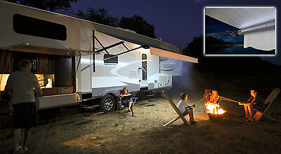 LED Motorhome RV Awning Strip Lights __ BRIGHT White __ Universal Fit KIT