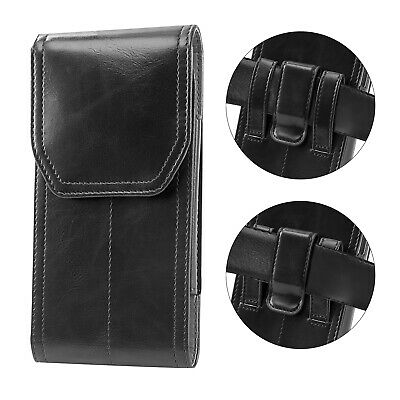 Vertical Leather Case Cover Pouch Holster Belt Loop For iPhone X 8 7 6 6S Plus
