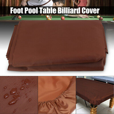 8ft Foot Pool Billiard Table Cover Coffee Heavy Duty Fitted Polyester Oxford AU