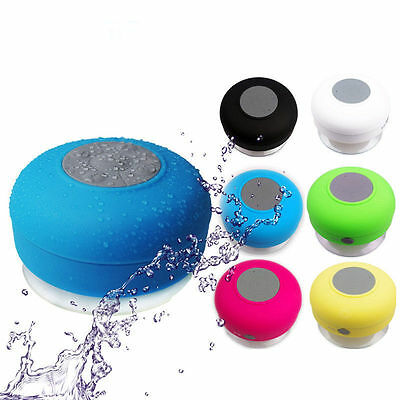 Bluetooth Waterproof Wireless Speaker Suction Cup Shower speaker Hands free Mic