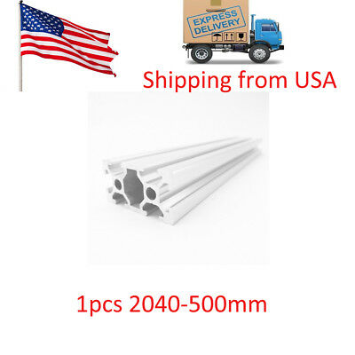 1PCS 20x40 500mm European Standard Linear Rail Aluminum Profile Extrusion in USA