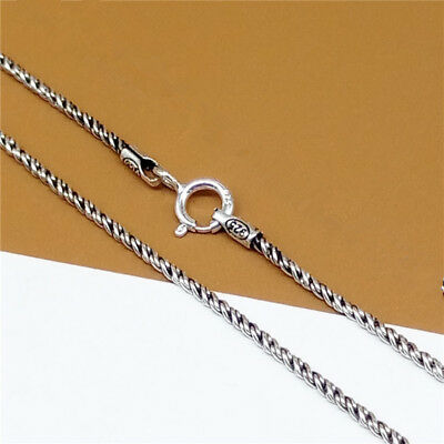 Sterling Silver Twist Rope Chain Necklace Bali Chain 1.2mm 16 18 20 22 24 Inches