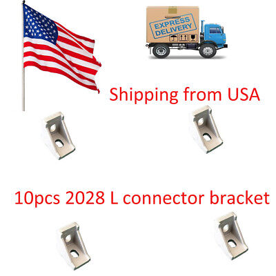 10pcs 2028 corner fitting angle aluminum 20 x 28 L connector bracket fastener