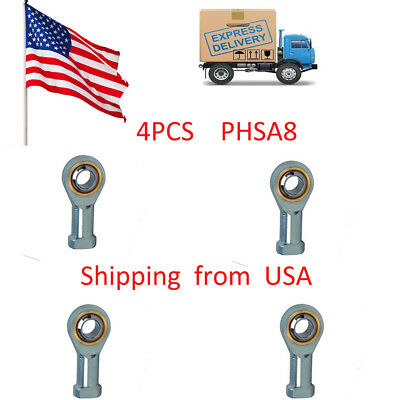 4pcs PHSA8 SI8T/K 8mm Metric Threaded Rod End Joint Bearing in the USA