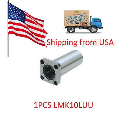 1PCS 10mm LMK10LUULong Linear Motion Bearings Bushing Flange Router Shaft in USA