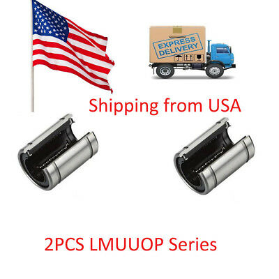 2pcs LM20UUOP Open Linear Ball Bearing Bushing Linear Motion Bearing In the USA