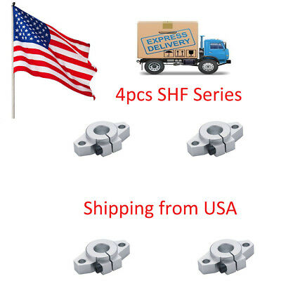 4pcs SHF12 12mm Flange Mount Linear Rail Shaft Support Linear Rod shaft in USA