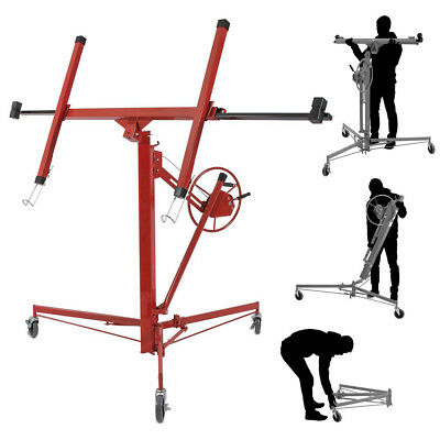 Heavy Duty 11FT Drywall Lifter Jack Plasterboard Panel Sheet Hoist Lifting Stand