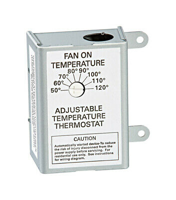 Air Vent 58033 Adjustable Temperature Thermostat, Single Speed