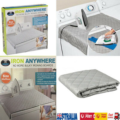 Iron Anywhere Ironing Mats F Camping Travel Easy Storage Foldable Heat Proof Au