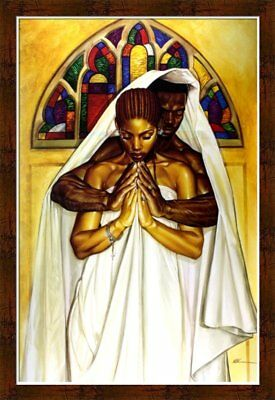 Pray Together Stay Together By WAK Kevin A. Williams 24x36 Black Art Print Wood