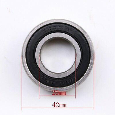6004RS 20mmx42mmx12mm Seal Shielded Deep Groove Ball Bearings