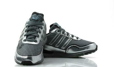 best service 097fe 86f24 Juniors ADIDAS DISNEY FINN C Grey Leather Trainers G41090
