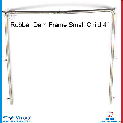 "Dental Rubber Dam Frame Child Small 4"" Autoclavable Ortho Lab Stainless Steel Ce"