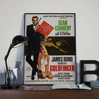James Bond 007 Goldfinger Sean Connery Foreign Film Poster Print Picture A3 A4