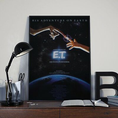 ET EXTRA TERRESTRIAL Home Wall Print Vintage Movie Film Poster A4,A3,A2,A1