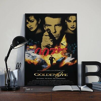 James Bond 007 Goldeneye Cinema Movie Film Poster Print Picture A3 A4