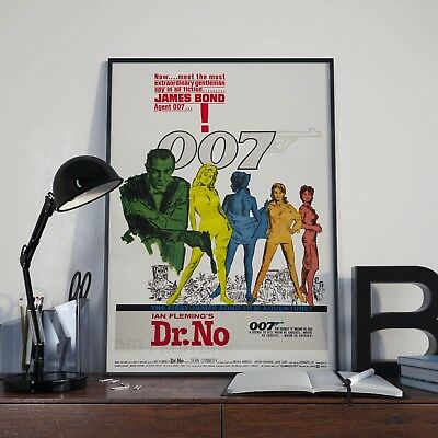James Bond 007 Dr.No Sean Connery Movie Film Poster Print Picture A3 A4