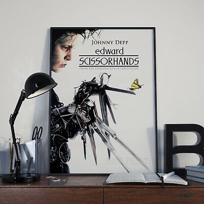 Edward Scissorhands Modern Classic Cinema Movie Film Poster Print Picture A3 A4