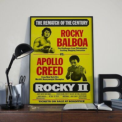 Rocky 2 Stallone Boxing  Movie Film Poster Print Picture A3 A4 Boxing Posters