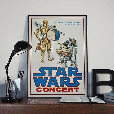 Star Wars Concert Poster Print Picture A3 A4 Vintage Rare Posters