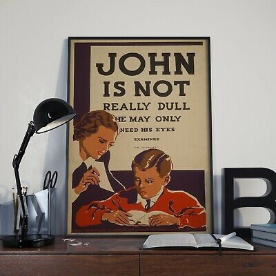 Vintage John Is Not Really Dull Eyesight Advertising Poster Print Picture A3 A4