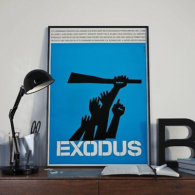 Otto Premingers Exodus Saul Bass Movie Film Poster Print Picture A3 A4 Posters
