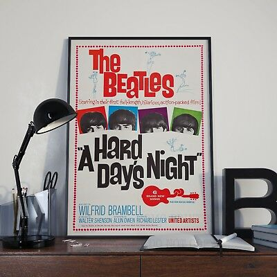 The Beatles A Hard Days Night Movie Fab Four Poster Print Picture A3 A4