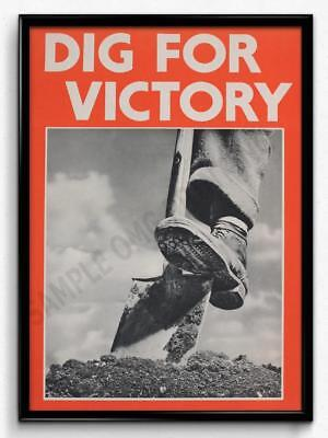 Vintage War Propaganda Dig For Victory Poster Print Picture A3 A4