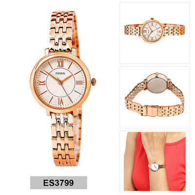 fossil damen analog watch casual rote band me3137 eur. Black Bedroom Furniture Sets. Home Design Ideas