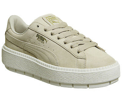 0285a6fd9238 WOMENS PUMA SUEDE Platform Trace Trainers SAFARI MARSHMALLOW Trainers Shoes  - £40.00