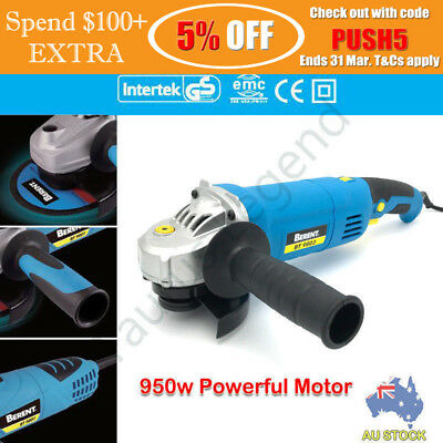 BERENT 115mm Electric Angle Grinder 950W Variable Speed German Standard CE Tool