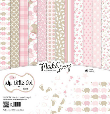 Elizabeth Craft Designs Modascrap 6x6 Inch Paper Pad My Little Girl