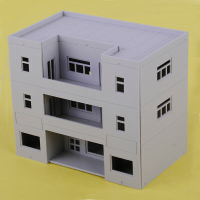 1:100 Scale Grey Apartment Building For Gauge Outland Model Train Layout Toy