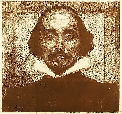 Shakespeare - Portrait - Karl Builder - Lithography 1904