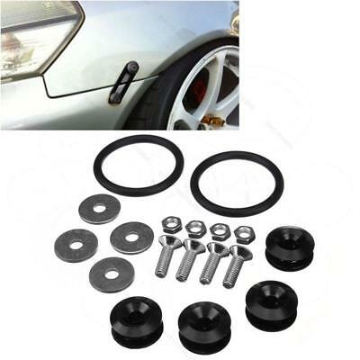 Universal Black  Aluminum Quick Release Fasteners Kits For Bumper & Trunk Hatch