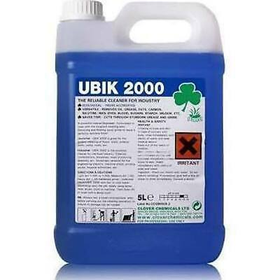 Clover Ubik 2000 Universal Cleaner (10Ltr) Degreaser, Hard surface - 301