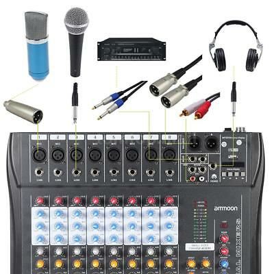 ammoon USB 8 Channel Digtal Mic Line Audio Mixing Mixer Console for DJ A8A4
