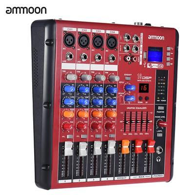 Digital Bluetooth 4-Channel Mic Line Audio Mixer Mixing Console 2-band EQ W8B8