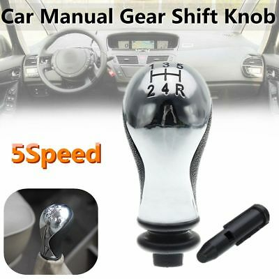 5Speed Black&Silver Car Gear Shift Knob For Citroen C5 01-08 Xsara Picasso 99-08