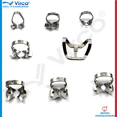 New Rubber Dam Clamps 8 Pcs Frequently Used Adult Pediatric Dentistry Autoclable