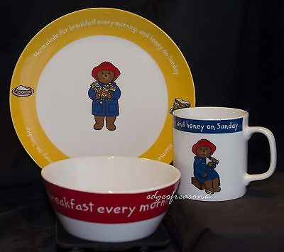 Portmeirion Paddington Bear 3 Peice China Set Plate Cup Dish Boxed