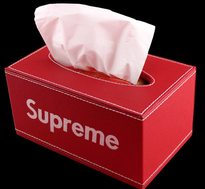 supreme quality tissue box red color rectangle