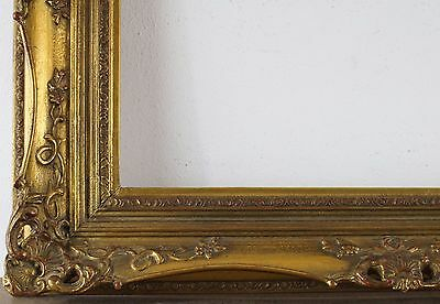 Decorated Wood Frame Gold Rebate Size approx. 51x61 cm