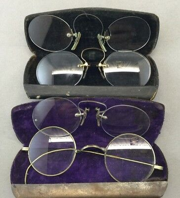 4 Antique Eyeglass Frameless Pince-Nez
