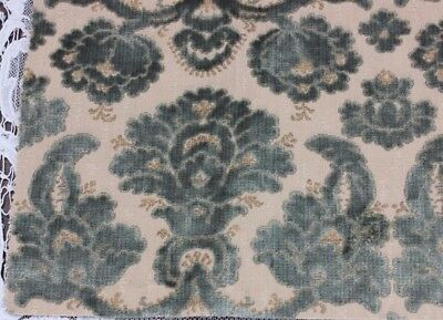 "Lovely French Antique Cut Silk Velvet Frame Sample Fabric c1880~12""L X 26""W"